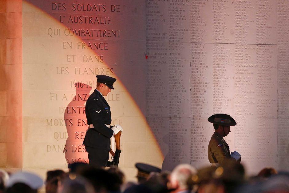 Anzac Day at Villers Bretonneux - Photo ABC