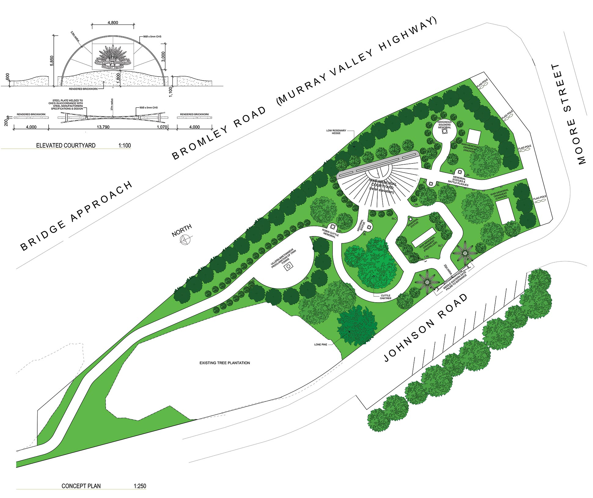 Robinvale Regional War Memorial Park plan