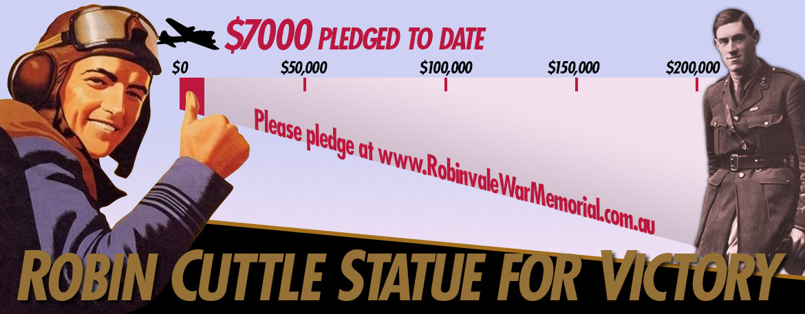 Robin Cuttle Statue for Victoria Pledges