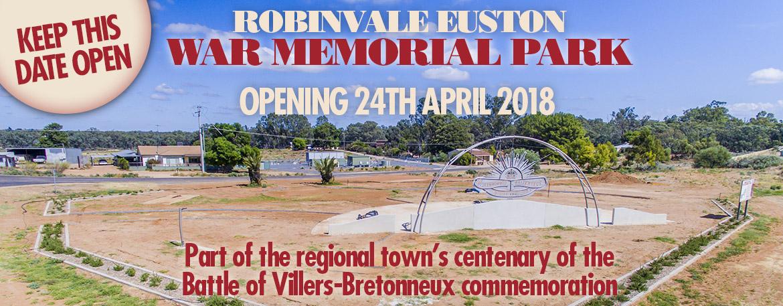 Robinvale Euston War Memorial Opening April 2018